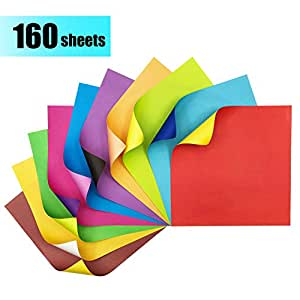 origami paper 160 sheets coloured paper contrasting