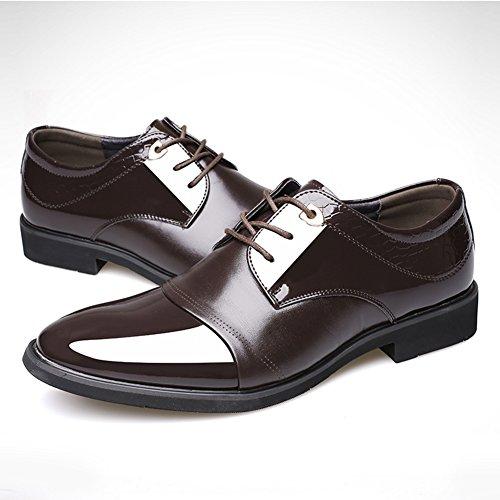 Qiangda Chaussures De Travail Décontractées Pour Hommes Bout Pointu Attacher Le Printemps Et L'automne, 2 Couleurs En Option (couleur: Brun, Dimensions: Eu43 = Uk9.5) Brown