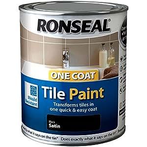 Ronseal monocouche peinture pour carrelage noir amazon for Carrelage monocouche