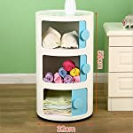 Bookcase SEXSY- Round Fashion Lockers Childrens Bedside Tables Mini Toy Lockers Three Layer Removable