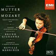 Mozart : Violin Concerto No.1 in Bf, Sinfonia concertante in Ef, Adagio in E