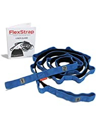 FLEXIBILITY and RECOVERY STRETCH OUT STRAP - Best for Yoga, Dance, Physical Therapy Rehabilitation Stretching Bands with 12 Loops, Padded Foot Rest and Bonus User Guide