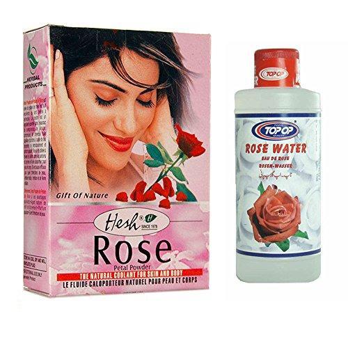 hesh-natural-herbal-rose-petal-powder-50g-and-water-200ml-for-face-hair-skin-mud-pack