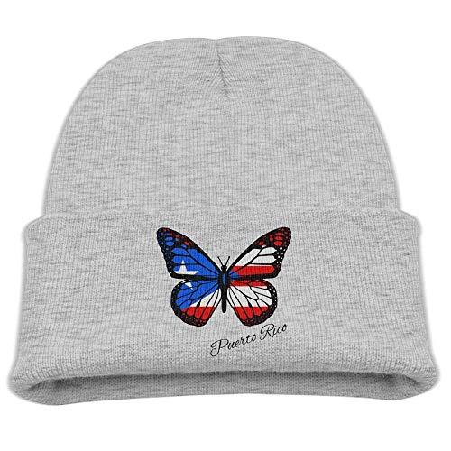 UUOnly Puerto Rico Butterfly Beanie Mütze Mütze Baby Boy Butterfly Beanie Baby