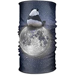 Pengyong Panda of Space Moon - Bufanda de Microfibra para el Cuello con Capucha y asa Supersuave