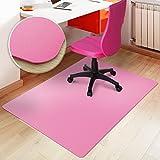 Tapis protège-sol casa pura pour sols durs sans plastifiants/PVC | couleurs chaleureuses idéales pour la chambre d'enfant | 75x120cm - rose