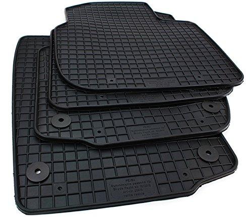 Gummimatten Skoda Rapid Fußmatten Gummi Original Qualität Rapid + Spaceback ab 2012 Auto Allwetter 4-teilig schwarz