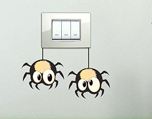 adesivi-per-interruttore-spine-placche-sticker-ragnetti-wall-stickers-decorativo-ragno-adesivo-adesi