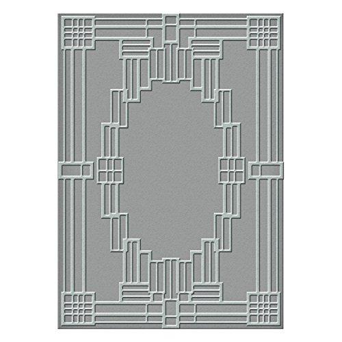 Spellbinders Deco kariert Textur Platte, Metall, braun (Karierte Platten)