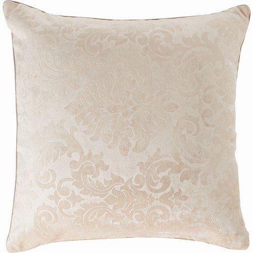 Paoletti Downton Cut Velvet Damask Cushion Cover, Cream, 43 x 43 Cm