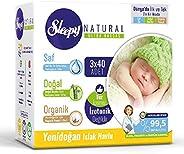 Sleepy Natural Yenidoğan Islak Pamuklu Havlu, 3 X 40 Adet