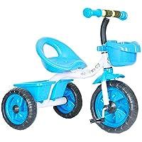 دراجة أطفال زرقاء ثلاثية العجلات تناسب الأعمار من 2 إلى 3 سنة