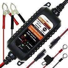 MOTOPOWER MP0205A 12V 800mA cargador de batería automático / Mantenedor para automóviles, motocicletas, ATVs, RVs, Powersports, barco y más. Inteligente, compacto y respetuoso del medio ambiente