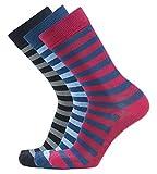 #6: Montebello Men's Cotton Socks (Multi-Coloured, Set of 3)