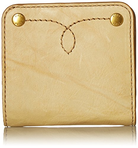 FRYE Campus Rivet Small Leather Snap Wallet Wallet, Banana, One Size