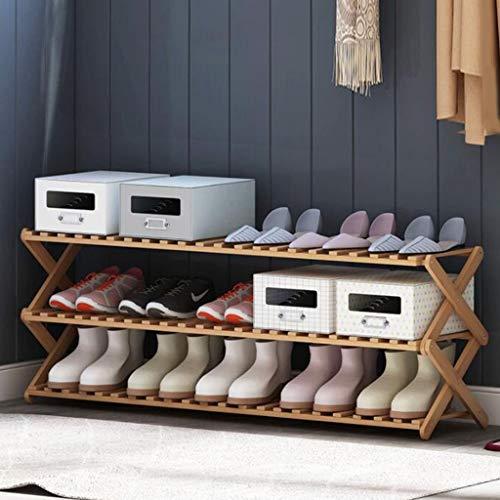 Schuhregale, Freistehender Schuhschrank aus Bambus |3 Tier |Holz |Schränke und Eingang |Veranstalter |Passt 15 Paar Schuhe XIEJIA716 - Holz Schrank Veranstalter