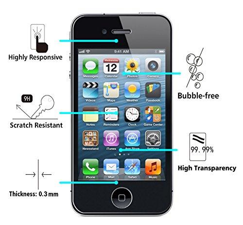 6 49 lot de 2 iphone 4 4s protection cran vguard film protection dcran en verre tremp glass. Black Bedroom Furniture Sets. Home Design Ideas