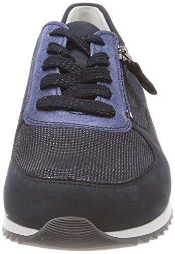 Waldläufer hurly, Chaussures à Lacets Femme Blau (Nubuk Matura Bufa Matura Notte Notte Royal)