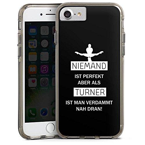Apple iPhone 6s Plus Bumper Hülle Bumper Case Glitzer Hülle Turner Sport Turnen Bumper Case transparent grau