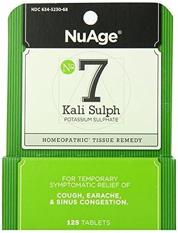 NuAge Laboratories Nuage Tissue Salts, Kali Sulph 125 Tabs 6X