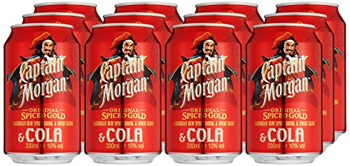 Captain Morgan Original Spiced Gold mit Cola, EINWEG (12 x 0.33 l) -