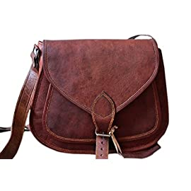 Leather bags Women's Leather Shoulder Handbag Messenger Bags Satchel Tote Purse Bags 13″