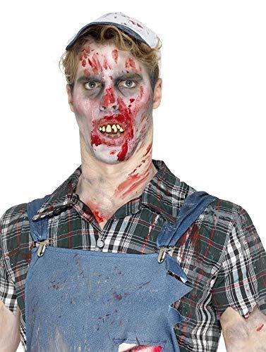 ige schiefe Zähne Gebiss Thermoplast Kleber verfault faulige falsche lustige Karies Halloween Kostüm-Zubehör ()