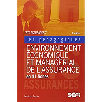 Environnement économique et managérial de l'assurance en 41 fiches pédagogiques BTS Assurance