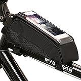 Easydo  Fahrradtasche Fahrrad Rahmentasche, Oberrohrtasche Fahrrad Tasche Handy Halterung Touch-Screen Wasserdicht für 5.5 Zoll Smartphone