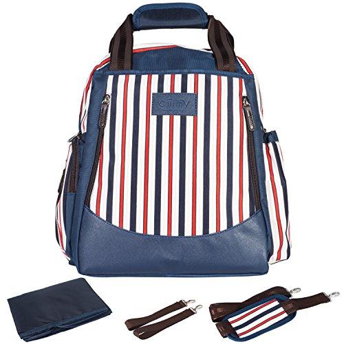 Windel Rucksack Tasche–ollimy Große Kapazität Organizer Wickeltaschen Tote mit kinderwagenhalter wasserabweisend Travel Rucksack für Baby Care Mum (ollimy Navy) (Laptop-rucksack Sicherheits-freundlichen)