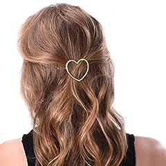 Idea Regalo - hugestore 2pezzi Donna Cuore fermaglio per capelli Forcine capelli clip fermagli per capelli accessori per capelli
