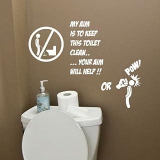 amazing sticker Wandtattoo/Wandaufkleber mit Zitat Toilette, für Badezimmer, dunkelgrün, Large