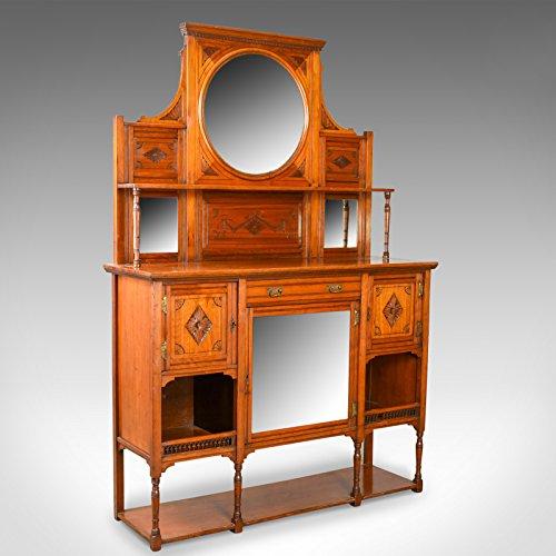 Chiffonier (London Fine Antiques Sideboard, englisch, Edwardian, Chiffonier, Walnuss, hoch, Circa 1910)
