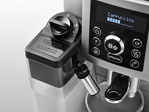 De'Longhi ECAM 23.466.S Kaffeevollautomat (Digitaldisplay, integriertes Milchsystem, Cappuccino auf Knopfdruck, Herausnehmbare Brühgruppe, 2-Tassen-Funktion) silber -