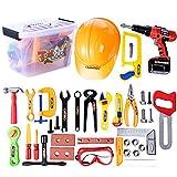 Yvsoo 37er Set Kinder-Werkzeugkoffer Werkzeugkoffer Kinder Spielwerkzeug Kinder Kofferraum Kinder-Rollenspiele Upgrade Koffer für Kleine Handwerker
