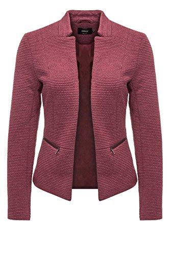 ONLY Damen Blazer Anzugjacke Businessjacke Anzug Kostüm Sakko Jackett (XS, Cordovan)