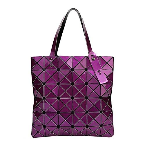 Frauen Falten Geometrische Umhängetasche Mode Persönlichkeit Lässig Tasche Purple