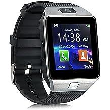 Jiazy Bluetooth Smart Watch Hacer llamadas telefónicas / Soporte de notificación de mensajes / Sleep Monitor Compatible para Android Sumsung HUAWEI y IOS IPhone6 / IPhone6s (QR no son compatibles con IOS)