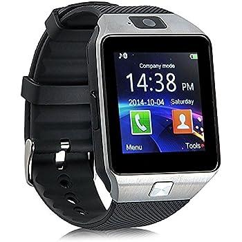Reloj Inteligente con Cámara TF/Ranura de Tarjeta SIM, Análisis de Sueño, Podómetro, Anti-pérdida, Fitness Tracker, Alertas de Mensajes para teléfonos ...