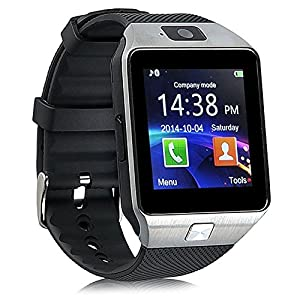 Reloj Inteligente con Cámara TF/Ranura de Tarjeta SIM, Análisis de Sueño, Podómetro, Anti-pérdida, Fitness Tracker, Alertas de Mensajes para teléfonos Inteligentes Android y iOS, Plata 9