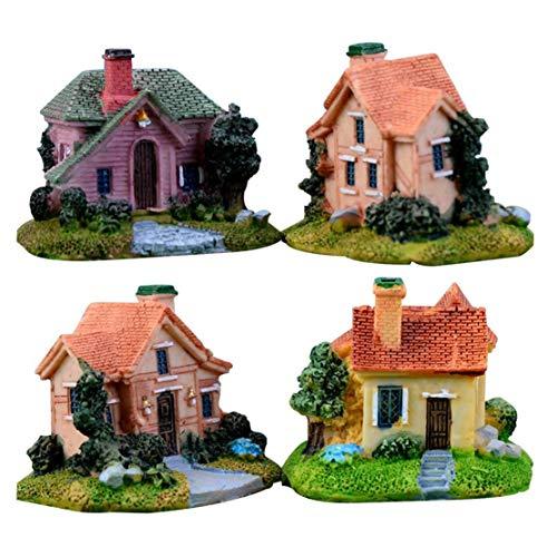 TOSSPER Garten Micro Landschaft Startseite DIY Figuren Terrarium Miniatur-Haus-Fee-Mini Nette Ungiftiger Container Resin Crafts Blumentopf