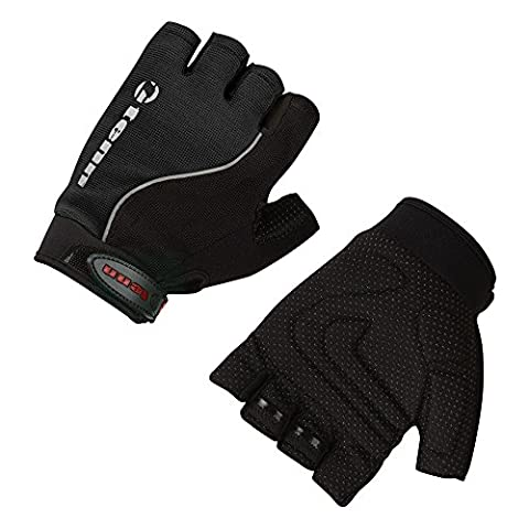 Tenn-Outdoors Men's Fingerless Cycling Gloves Mitts - Black, X-Large
