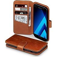 Galaxy A5 2017 Case, Terrapin [ECHT LEDER] Brieftasche Case Hülle mit Kartenfächer und Bargeld für Samsung Galaxy A5 2017 Hülle Cognac