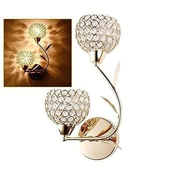 elinkume applique luminaire culot e14 ac 220v cristal murale luminaire halog ne led lampe. Black Bedroom Furniture Sets. Home Design Ideas