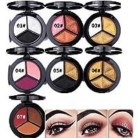 YOYOGO ✿Brush Make Up Brush The Bodyshop Base De Delineador De Ojos Delgado,3 Colores Sombras De Ojos con Textura Paleta Frente A Mate Maquillaje Sombra De Ojos Sombra