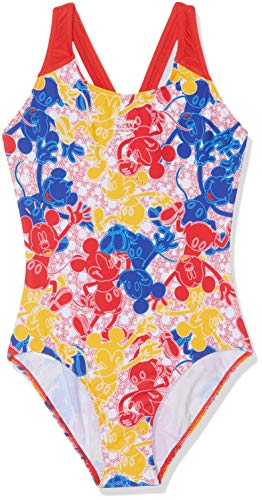 Speedo Allover 1Pce Jf Bañador, Niñas, Blue/Red/Yellow/White, 26