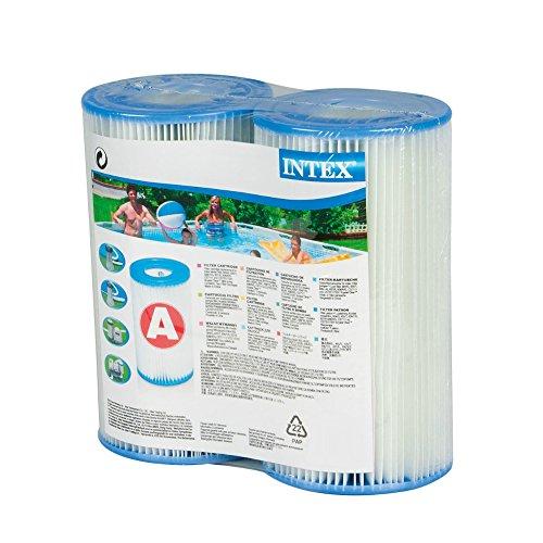 Intex Type A Cartouche de Filtration pour piscines, Lot de 2