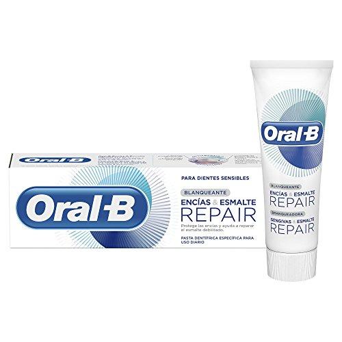 Oral-B Encías & Esmalte Repair Blanqueante, Pasta Dentífrica, 75ml, paquete de 4