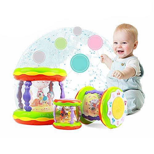 Mikiya Karussell Spieluhr Spielzeug Kleinkind Baby Musikalische Spielwaren, Niedliche Karussell Musik Lernspielzeug für 1-3 Jahre alte Jungen und Mädchen