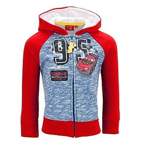 Dress-O-Mat Jungen Sweatjacke Pullover Jacke Cars Gr 116 6 J rot blau (Jacke Cars)